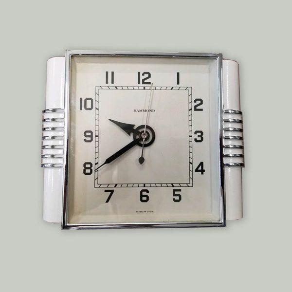 white-hammond-clock